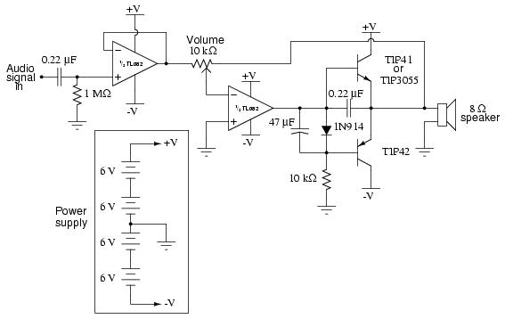 Class B audio amplifier, Analog Integrated Circuits